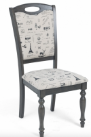 СТУЛ LT C17443 DARK GREY #G521/ FABRIC FB62 PARIS М-CITY